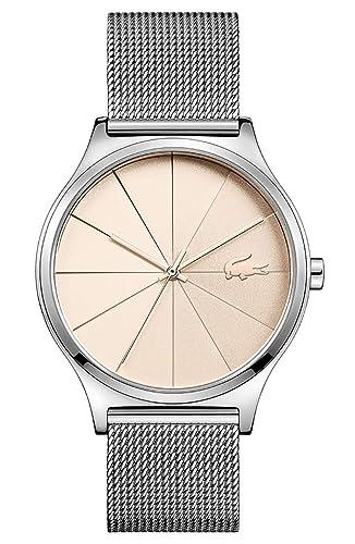 Lacoste Reloj Analógico para Mujer de Cuarzo con Correa en Acero Inoxidable 2001042: Amazon.es: Relojes