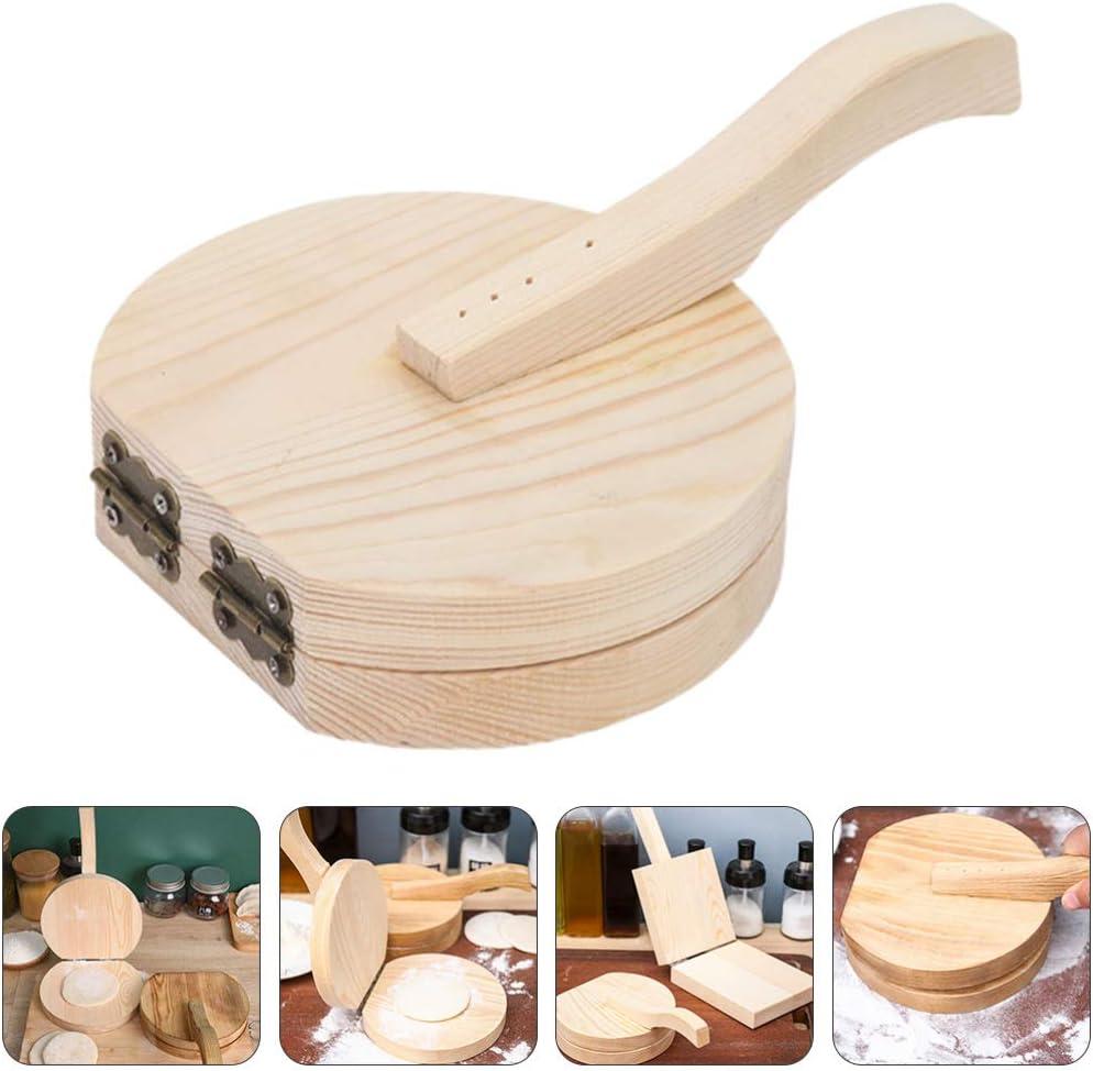 Cabilock Tortilla Presse Authentique en Bois Traditionnel Tortilla Maker Ma/ïs Tortilla Machine pour La Maison