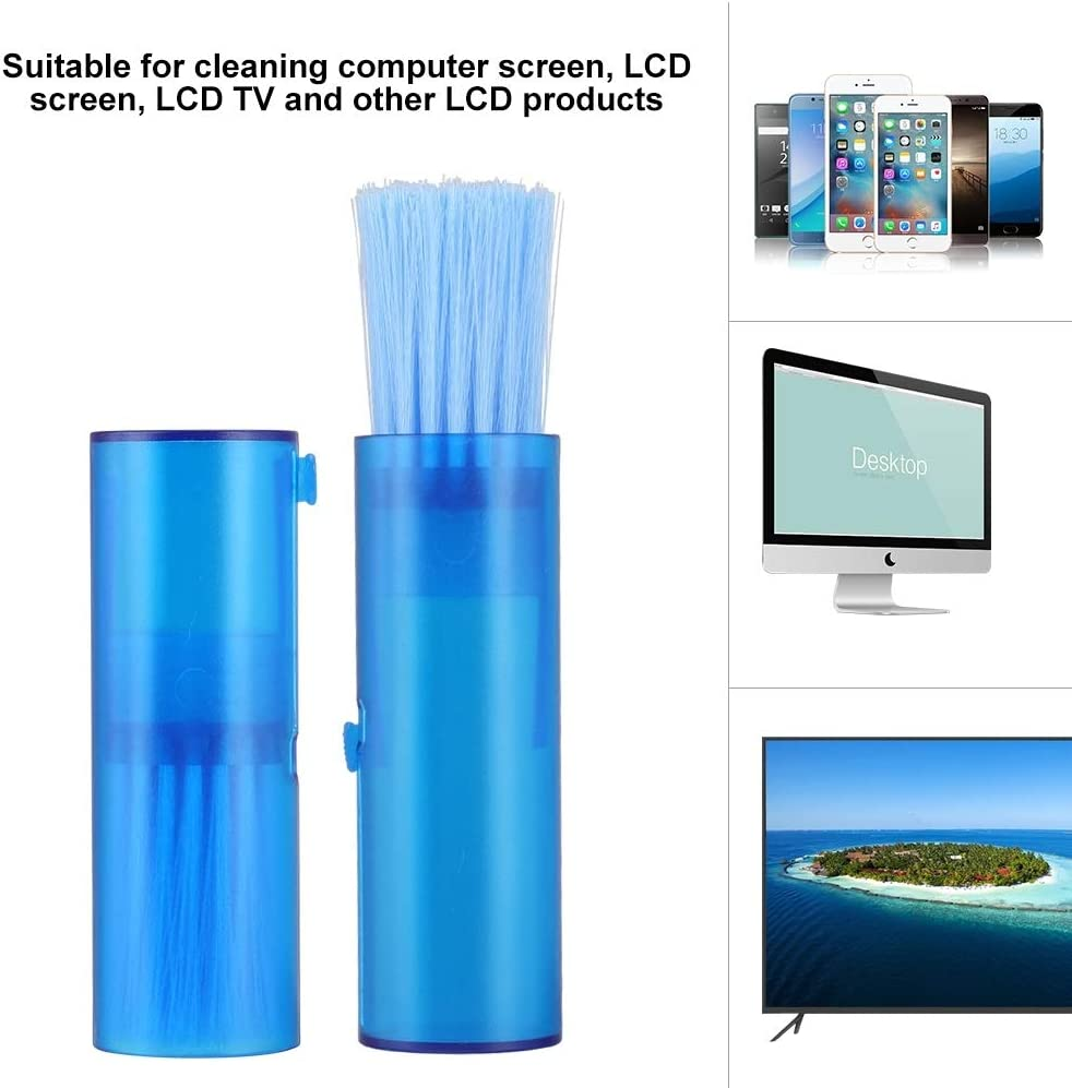 Telescopic Portable Nylon Hair Dust Cleaning Brush Cleaner Tool for LCD Display Screen Screen Cleaning Brush