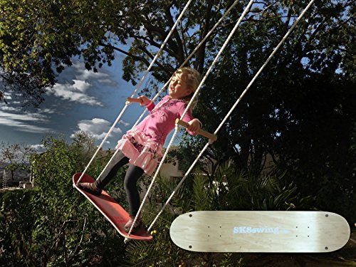 Sk8Swing Skateboard Swing Perfect Replacement for Traditional Swing or Tree Swing - Natural