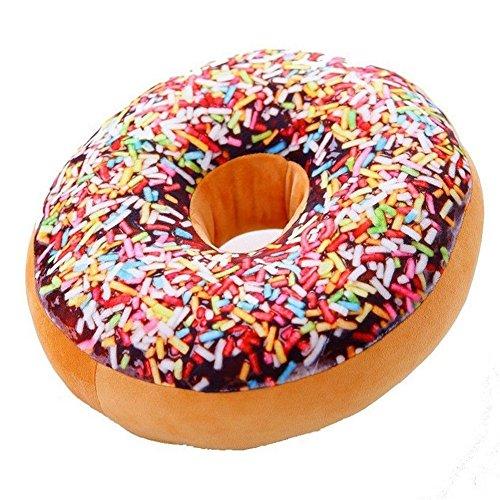 bravolotus 40cm Bunte Plüsch Kreative 3D-Squishy Donut Dekokissen Sofa Auto-Büro Kissen Valentines Geschenk