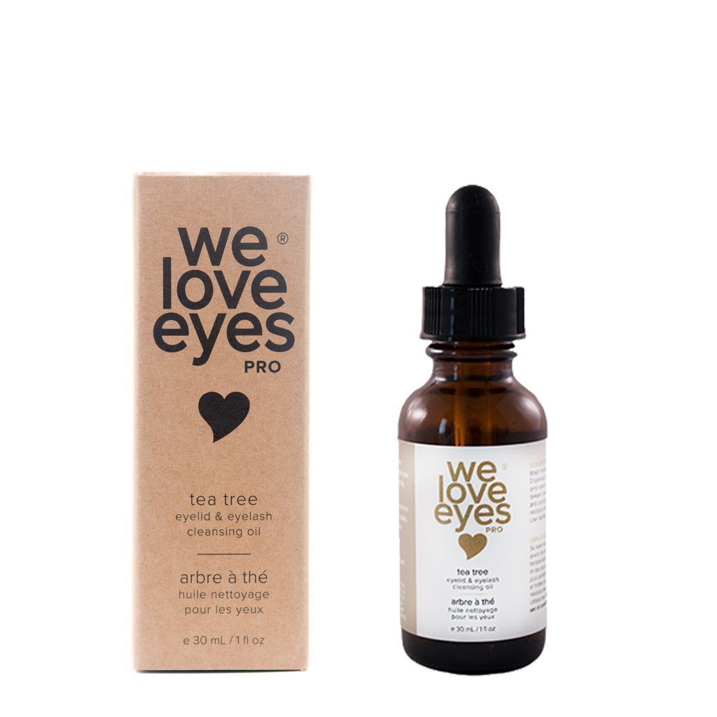 All Natural Tea Tree Eyelid Cleansing Oil - We Love Eyes - Eye Cleanser - Blepharitis, Demodex, Dry Eyes Relief & Treatment, Eco Friendly, Reduce Itching & Inflammation, Chemical & Alcohol Free - 30ml