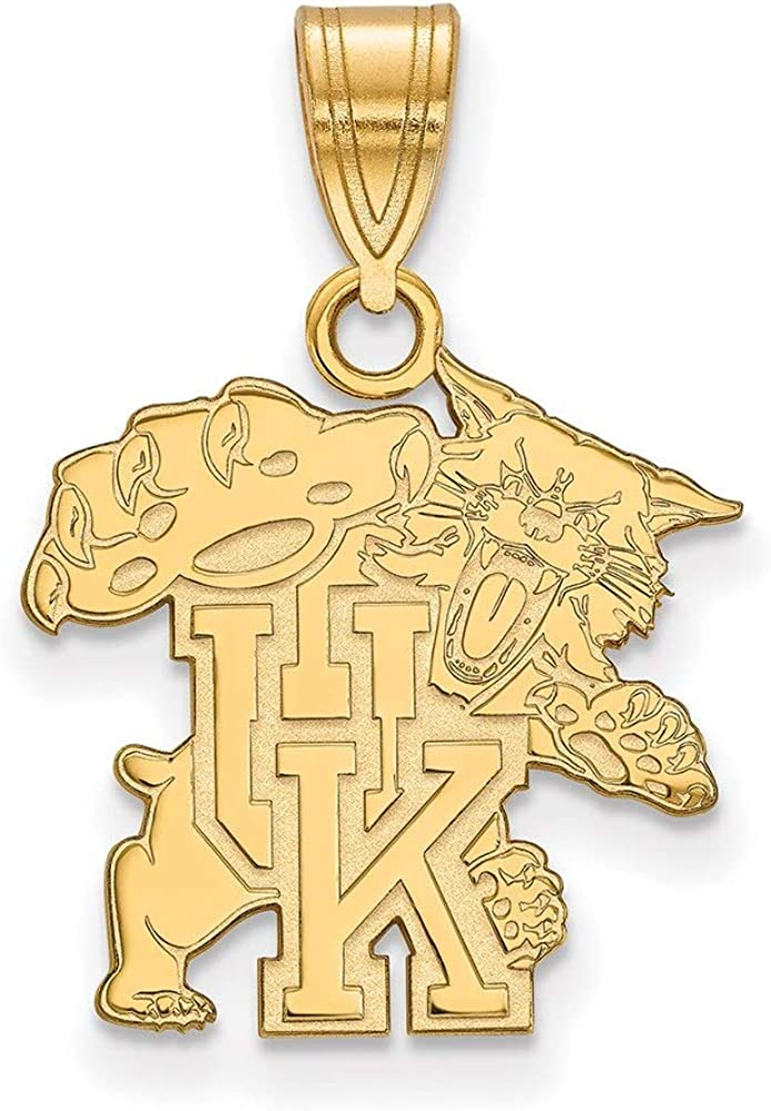 Lex /& Lu LogoArt 14k Yellow Gold University of Kentucky Medium Pendant LAL137128