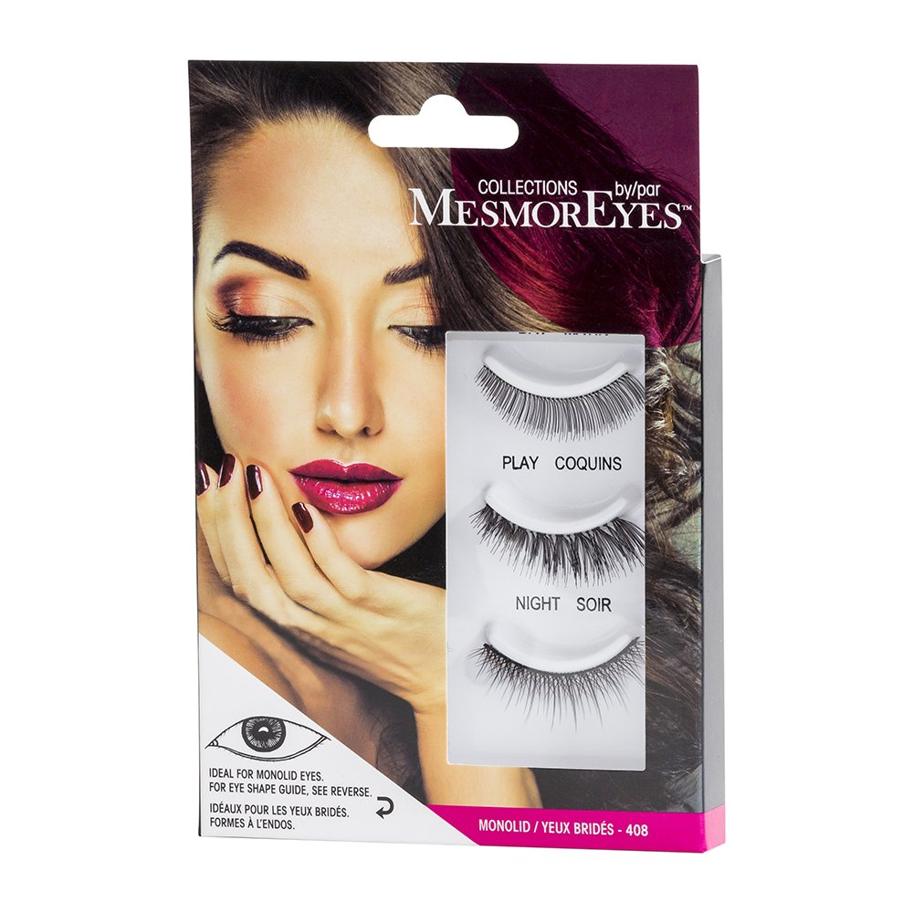 Amazon.com: Collections by MesmorEyes False Eye Lashes for Your Unique Eye Shape, 3 Pairs of Lashes (Round Eyes): Beauty