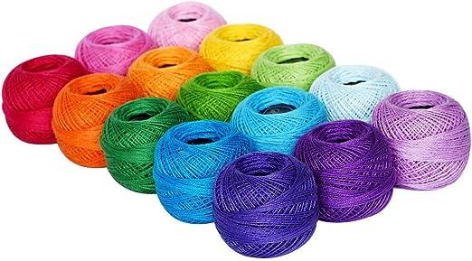 LE PAON 1500Y - 15 ovillos de hilo, en algodón perlado, para ...