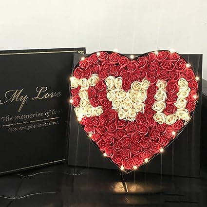 Amazon QJJML Everlasting Rose Flower Gift Box Send Girlfriend