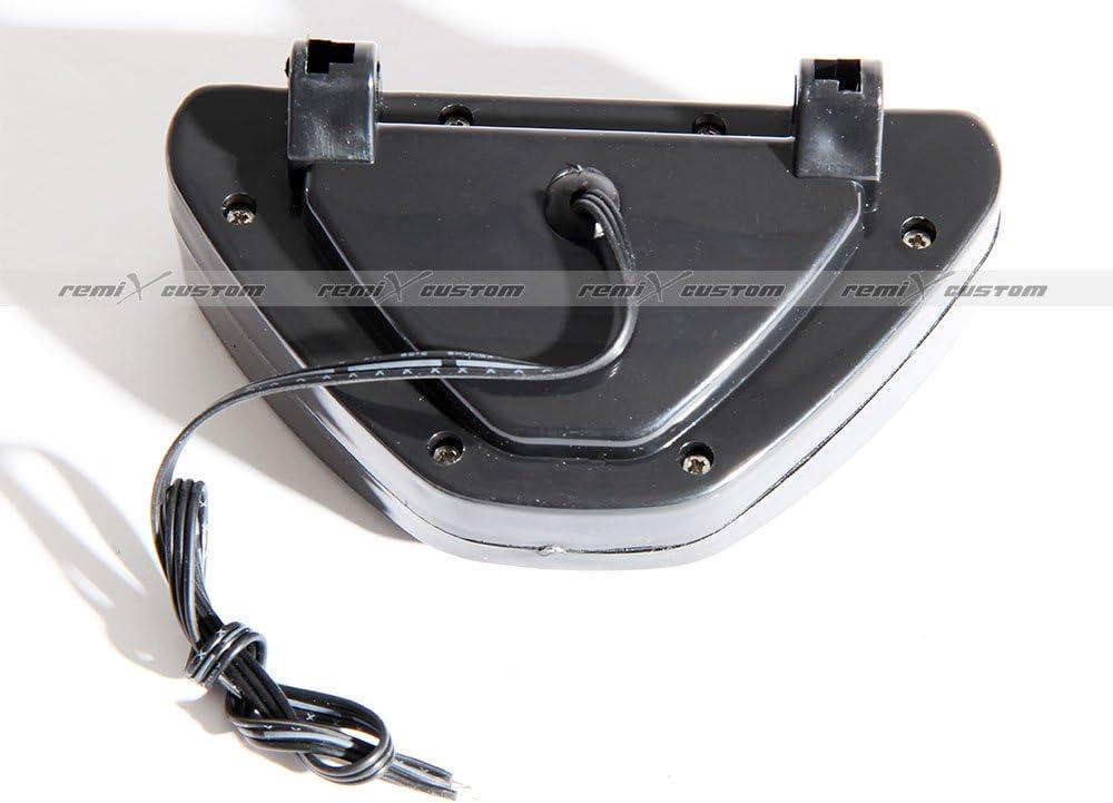 F1 Style BlackTraingle SMDx12 LED Rear Undercar 3rd Brake Tail Lights Red