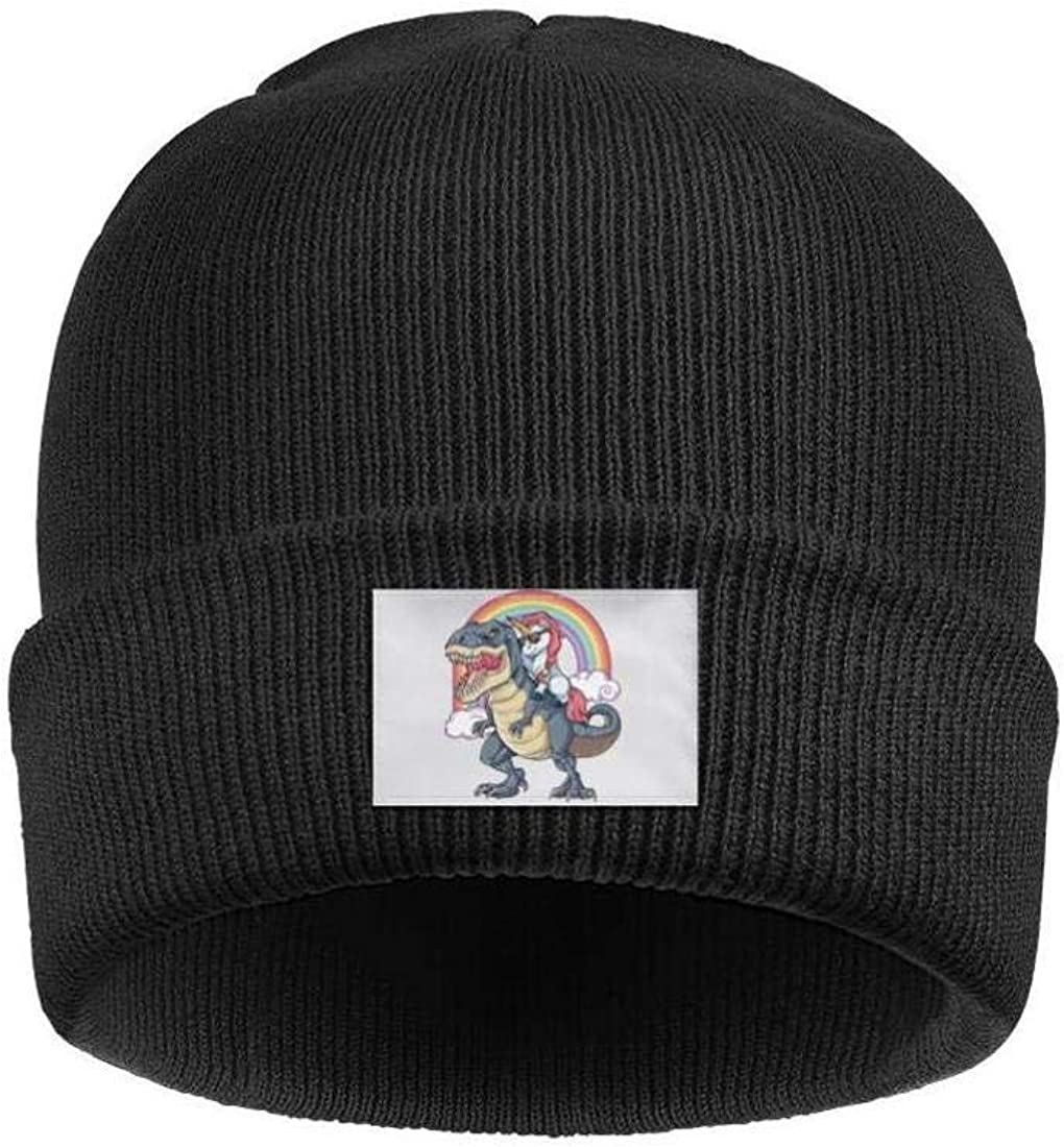Headwear for Mens Womens Comfort Solid Color Unicorn Riding Dinosaur T-Rex Beanies