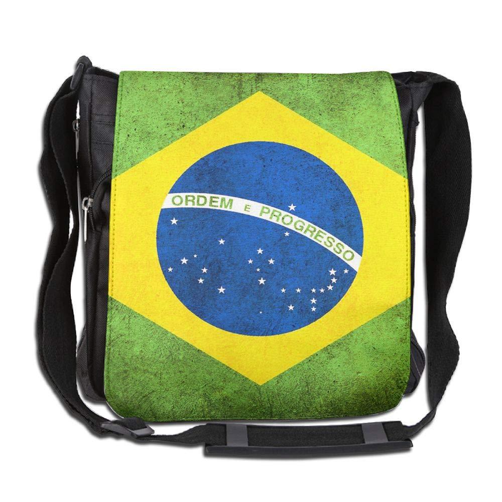 SARA NELL Messenger Bag,Brazil Flag,Unisex Shoulder Backpack Cross-body Sling Bag