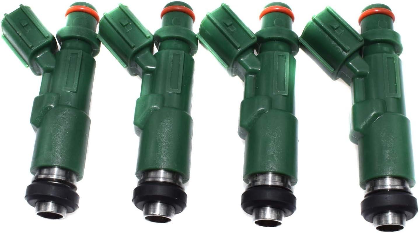 4 Pcs New Green Giant Fuel Injectors 23250-21020 For 2000-2009 Toyota Prius Echo Scion xA xB