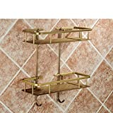 Rack shelf European Retro Bathroom Accessories Bathroom Racks Copper Bathroom Accessories ( Size : A )