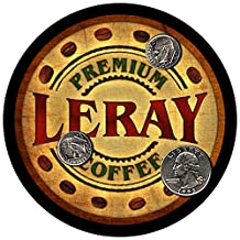 Leray Family Coffee Rubber Drink Coasters - Set of 4