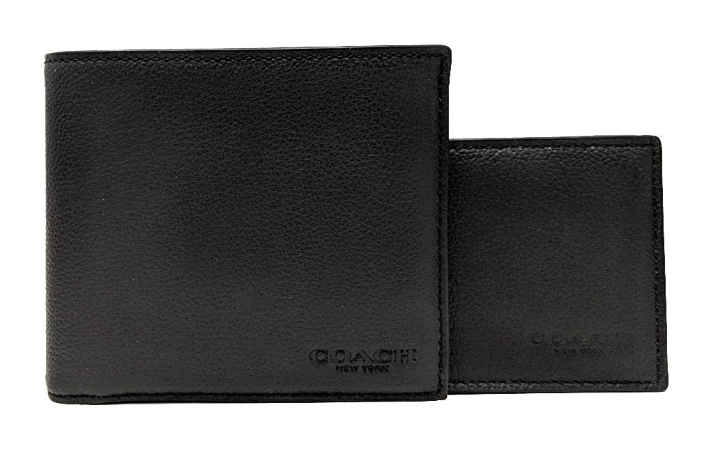 Coach Mens Compact ID Wallet & Key Fob Gift Boxed Set