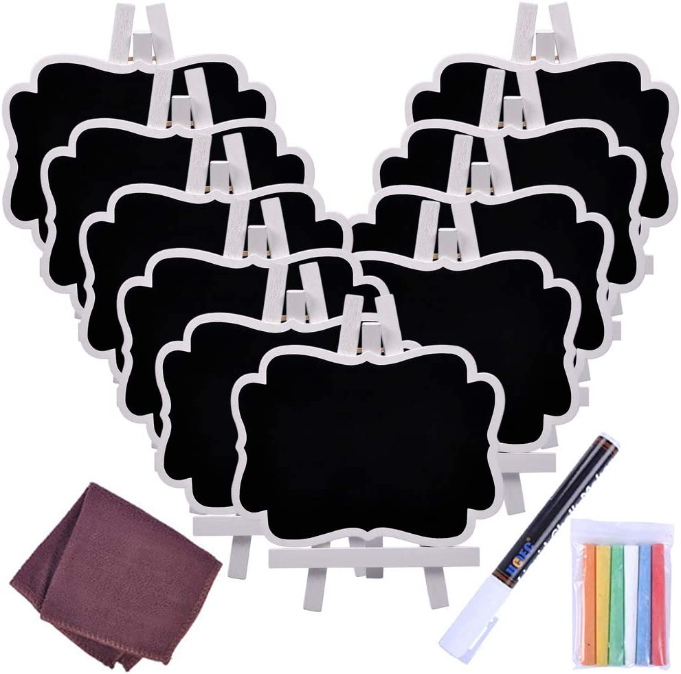 10 Natural Large Chalkboard Stands Wedding Table Numbers Same Day Shipping