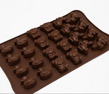 Molde chocolate hecho a mano DIY historieta sólida mano jabones con leche