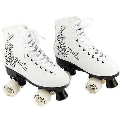 FunTomia Retro quad patines Disco con 4 ruedas - en diferentes tamaños 30–42 -