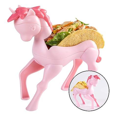 Amazon.com: Hikfly - Soporte para tacos de unicornio, Rosado ...