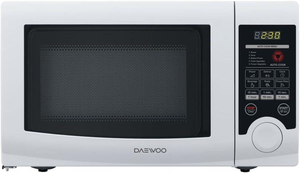 Daewoo KOR-6L3B - Microondas (Encimera, Solo microondas, 20 L, 700 W, Tocar, Blanco)