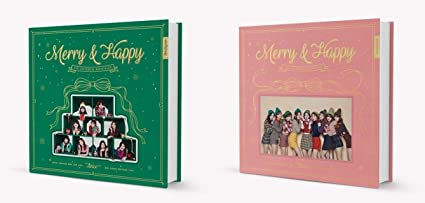 TWICE - Merry & Happy [Merry + Happy ver  SET] 2 CD+2 Pre-order Benefit+2  Folded Poster+Free GIft