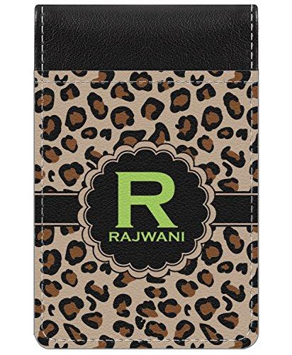 - Granite Leopard Genuine Leather Small Memo Pad (Personalized)