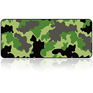 Large Gaming Mouse Pad with Nonslip Base|Extended XXL Size, Heavy|Thick, Comfy, Waterproof & Foldable Mat for Desktop, Laptop, Keyboard, Consoles & More|Enjoy Precise (Camouflage Color)