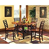 Steve Silver Abaco 5pc Round Counter Dining Room Set in Acacia Review