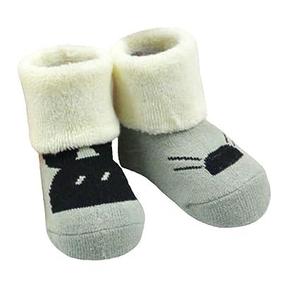 2 paires de chaussettes coton béb?cosy béb?cadeaux Chaussettes confortables Heartwarming Baby Gifts,0-1 ans?Souris