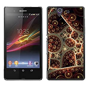 LECELL--Funda protectora / Cubierta / Piel For Sony Xperia Z L36H C6602 C6603 C6606 C6616 -- Turkey Carpet Abstract Bubble --