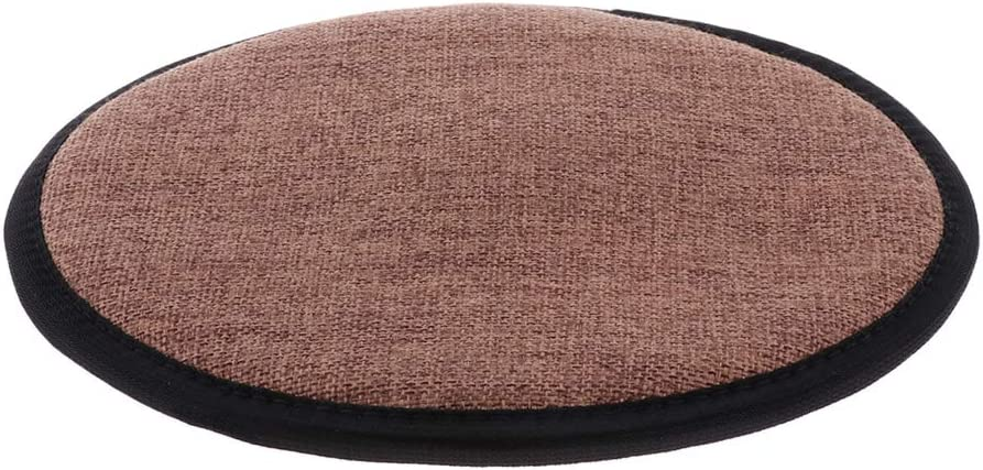 Long Lasting Non Slip Memory Foam Cotton Brown Office Kitchen Chair Cushion Dining Chair Pads Durable Round 25cm