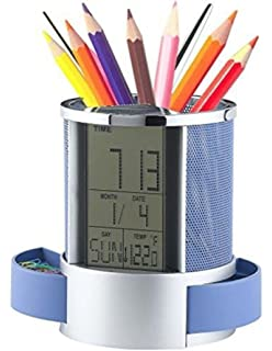 Independent Desk Mesh Pen Pencil Holder Office Supplies Multifunctional Digital Led Pens Storage Office & School Supplies