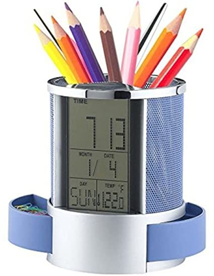 Pen Holders Desk Accessories & Organizer Good Free Shipping Desk Mesh Pen Pencil Holder Office Supplies Multifunctional Digital Led Pens Storage