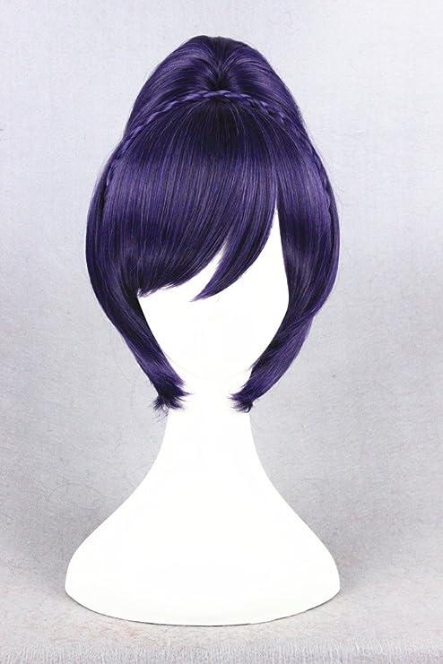 32 cm Color violeta y blanco construcción de madera de bollo de las pelucas para de