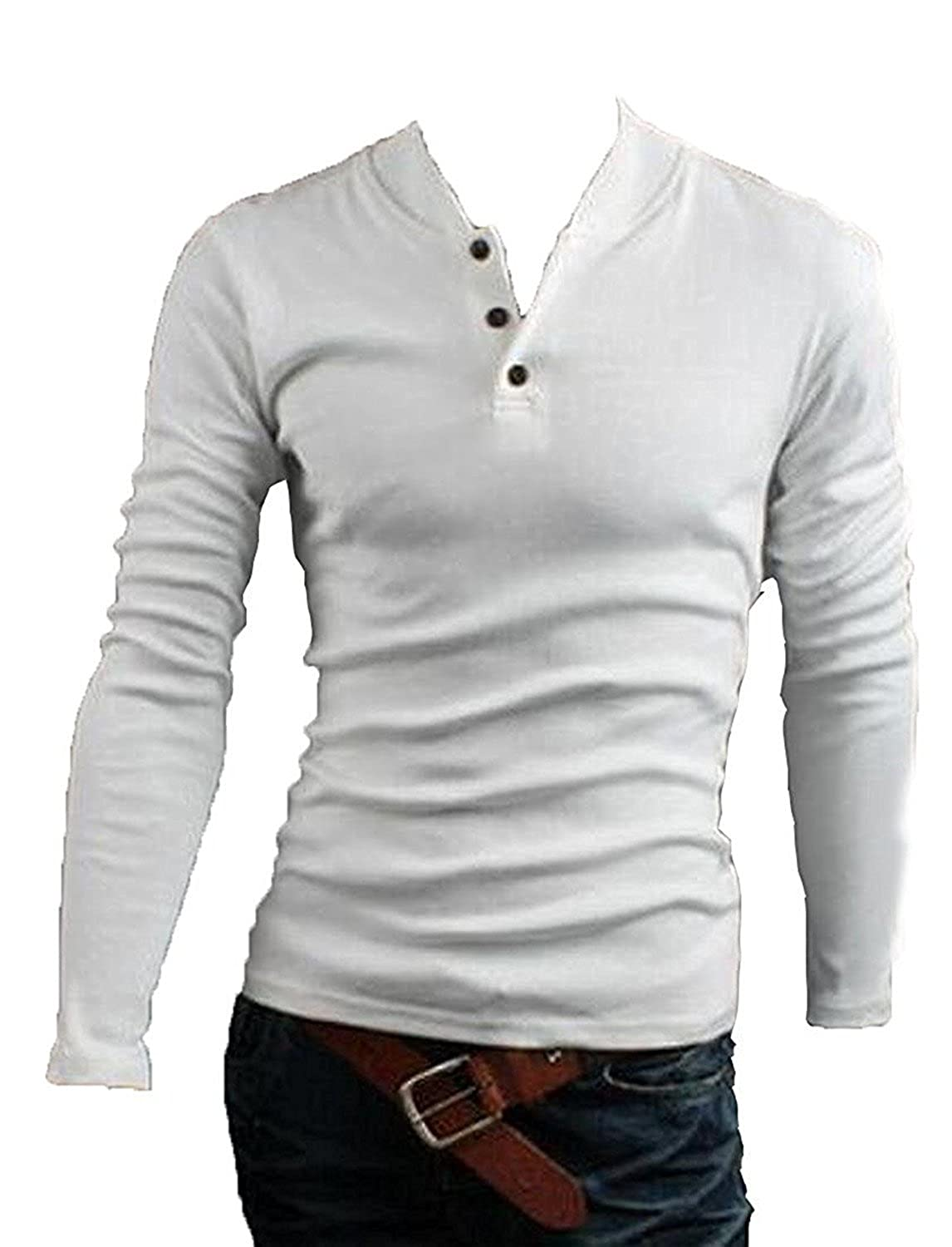 Toping Fine Men stand collar casual long-sleeved cardigan sweater