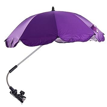 Migavan-Universal bebé Sombrilla anti-UV, Paraguas para carrito y Sport Buggy,Morado: Amazon.es: Hogar