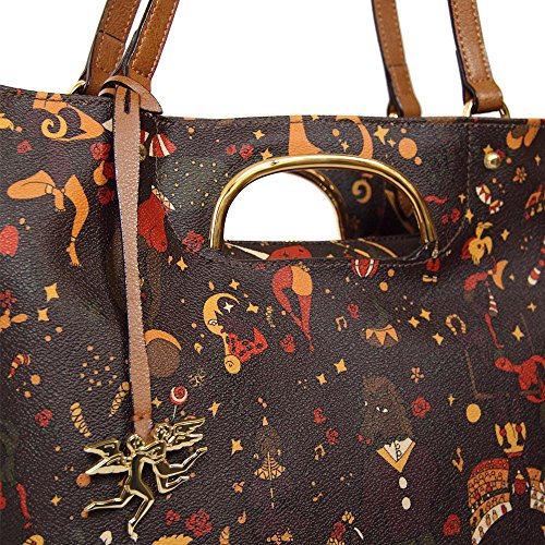 BORSA PIERO GUIDI MAGIC CIRCUS TOTE BAG 210594088 10 MARRONE