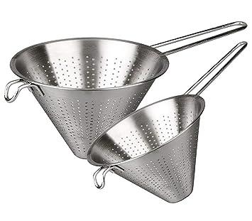 MGE - Colador Chino de Cocina - Acero Inoxidable - Set de 2 ...
