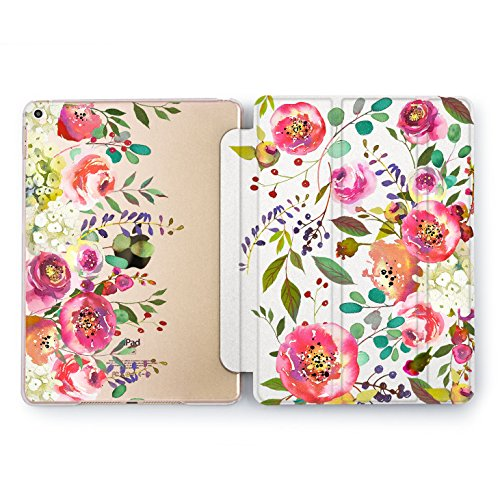 Wonder Wild iPad Cover Pro 9.7 inch Rose Gold Flowers Pattern mini1 2 3 4 Pretty Floral Crown Print Air 2 10.5 12.9 Apple Decorative Transparent Design Pink Petal Plant Clear Stylish Beautiful Cute