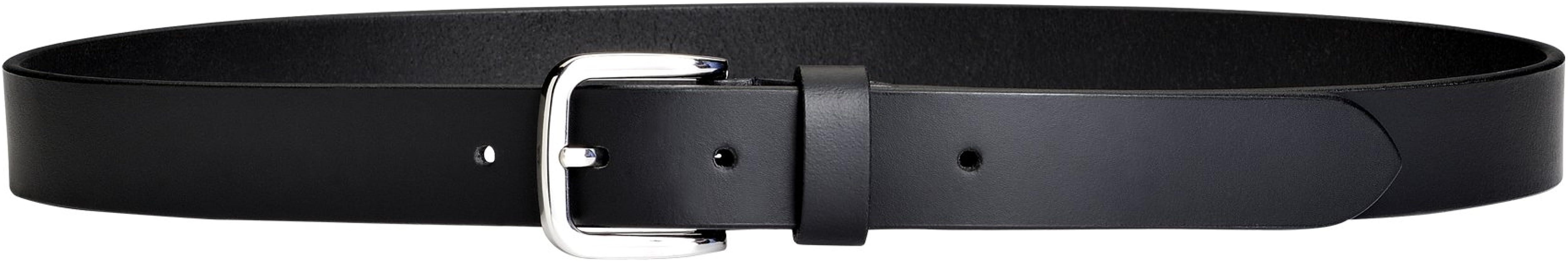 PELPE- Cinturón de Cuero Negro para Hombre. Cinturón de estilo ...
