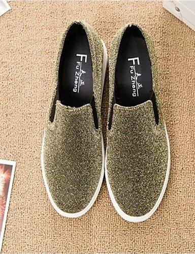 Casual Tejido Sneakers Cn39 Eu39 Bajo A De Gyht Negro Punta Zq Redonda Moda Uk6 Gold Mujer Oro us8 La Plata Zapatos Tacón 8O7nw1q