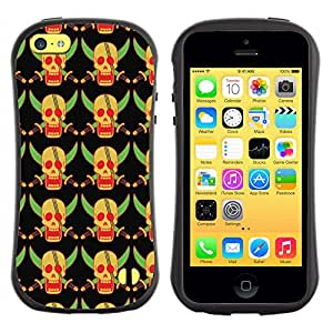 ArtSpace Premium Hybrid Back Case Cover Apple iPhone 5C ( Yellow Skull )