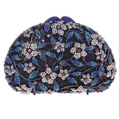 Fawziya Bling Floral Clutch Purses For Womens Handbags Mini-Blue