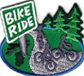 ``BIKE RIDE`` - BICYCLE - SPORT - EXERCISE - OUTDOORS - Iron On Embroidered Patch supply:lois7701