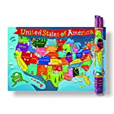 Kid's USA Laminated Map Laminated Poster 36 x 24in