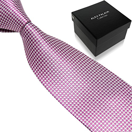 Men's Ties by Alex Palaus Collection - Premium Designer Necktie for Men with Tie Storage Box - Perfect Mens Gift