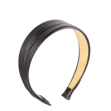 styles de variété de 2019 rabais de premier ordre grand assortiment Serre-tête Vintage Accessoires de la Mode en Cuir PU de Bande de Cheveux  Bandeau - Noir, Noir