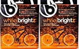 Brightz, Ltd. Wheel Brightz LED Bicycle Accessory Light (2-Pack Bundle 2 Tires), Orange