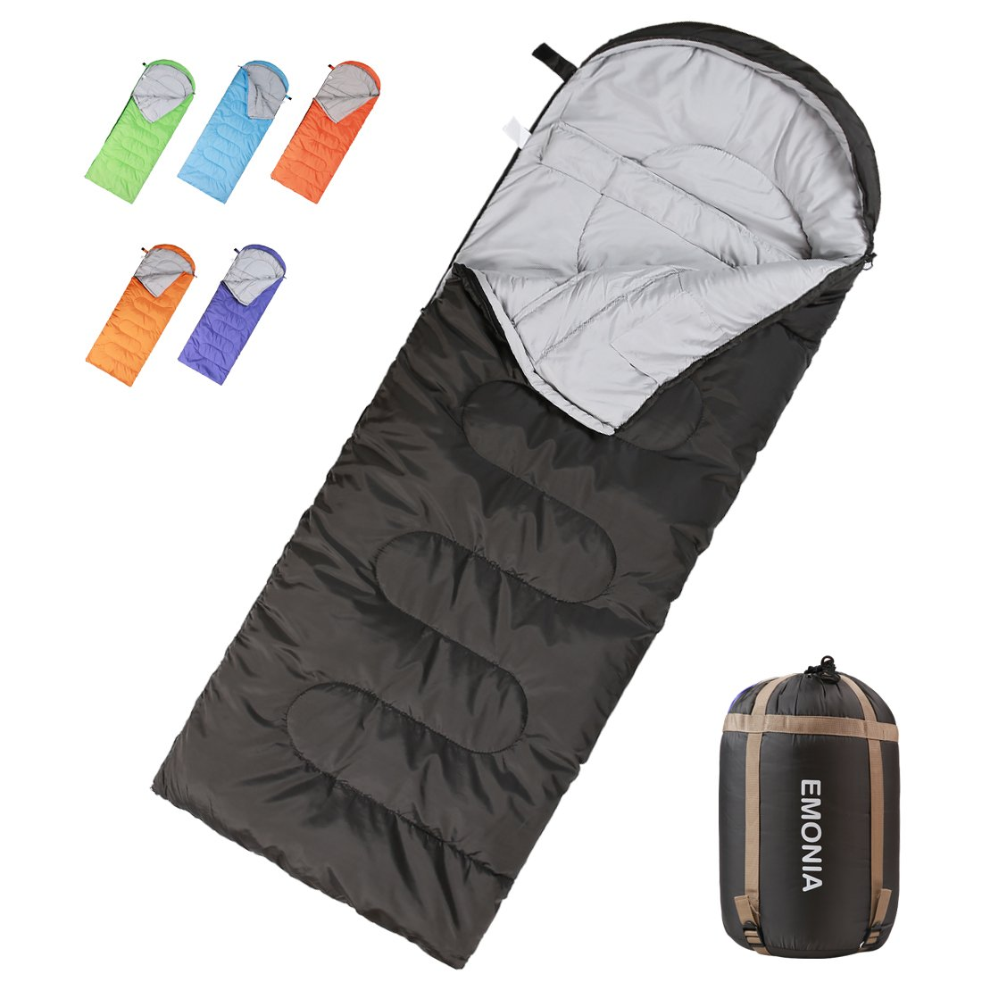 EMONIA Camping Sleeping Bag,3 Season Waterproof Outdoor Hiking Backpacking Sleeping Bag Perfect for Traveling,Lightweight Portable Envelope Sleeping Bags for Adults,Girls and Boys by EMONIA
