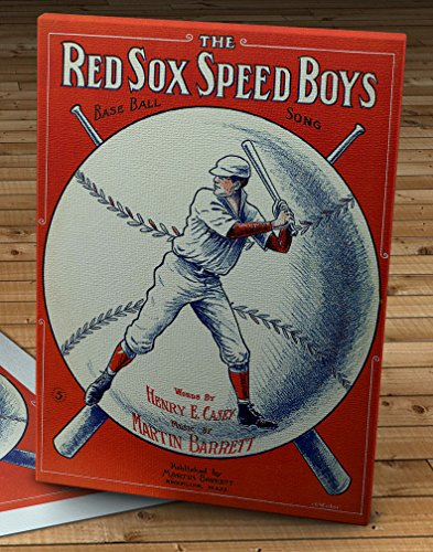 1912 Vintage Boston Red Sox Speed Boys Song Sheet Cover - Canvas Gallery Wrap - 14 x 18