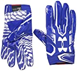 Under Armour Mens F5 Football Gloves, Royal/White, Small