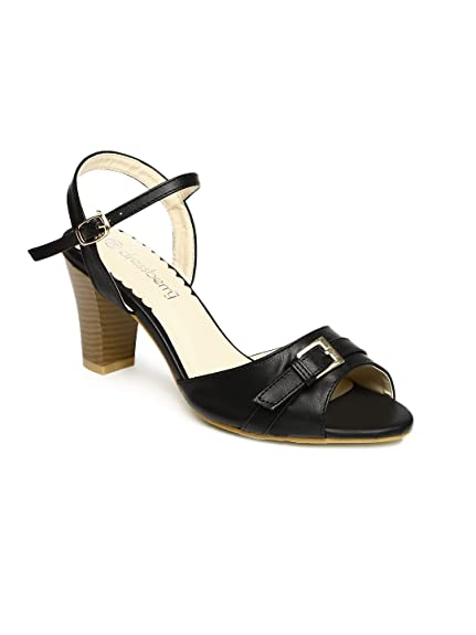 23dc9c220950 DressBerry Women Black Heels (EURO40)  Buy Online at Low Prices in ...